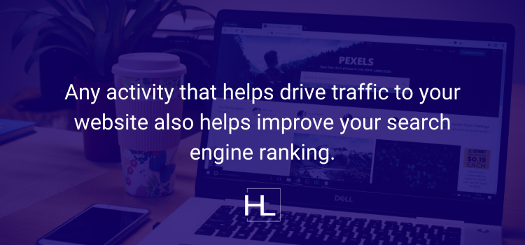 SEO is anything that drives traffic to your website