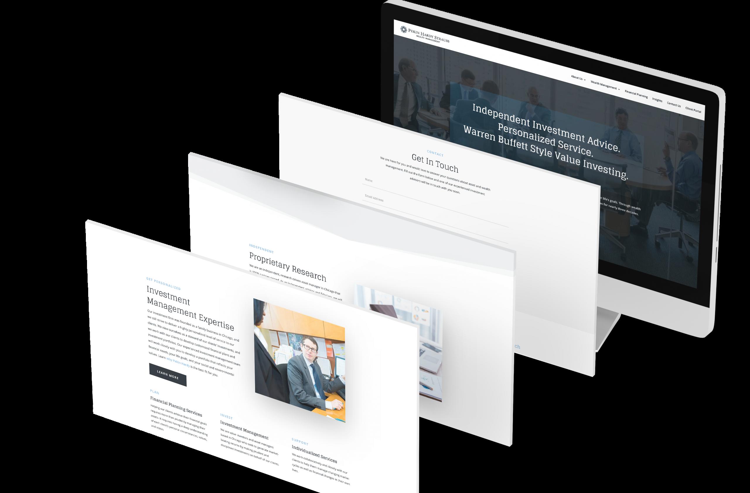 Pekin Hardy Website design built using divi platform